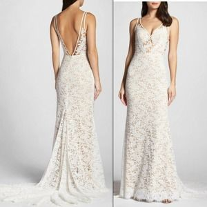 """WILLOWBY WATERS """"DERICA"""" Lace Wedding Dress"""